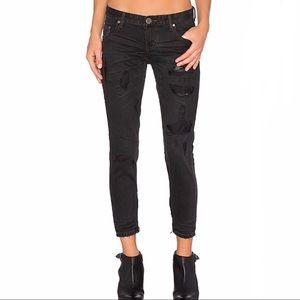 NWT One Teaspoon Black Freebirds Jeans Size 26